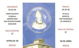 Cartel San Prudencio Actos Religiosos 2019